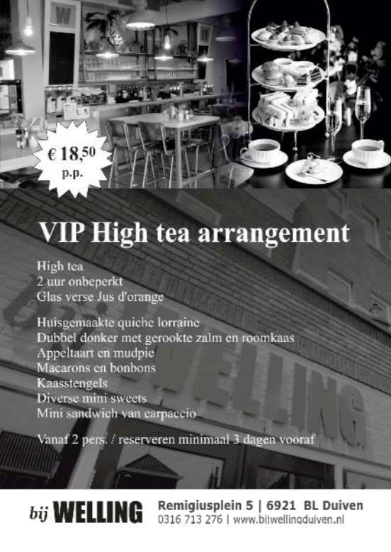 VIP high tea